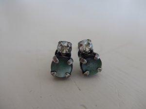 Ohrstecker von Konplott, Swarovskikristalle, weiss, Perlmutt