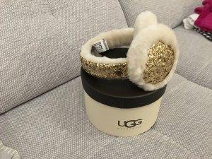 UGG Australia Cache-oreilles doré-blanc