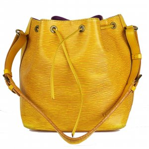 Louis Vuitton Sac seau jaune cuir