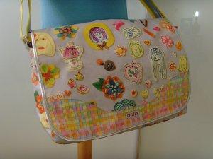 OILILY ★ Cool grau bunt Messenger bag courier bag ★ Tasche Stationery