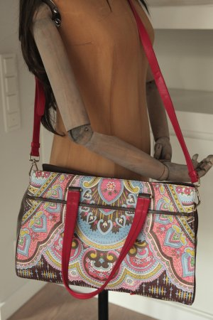 Oilily edle Leder Designer Handtasche Schultertasche Lily ehemalige UVP 549€
