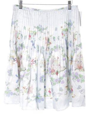 Oilily Plaid Skirt animal pattern elegant