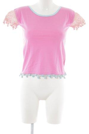 Oilily Top en maille crochet rose style décontracté