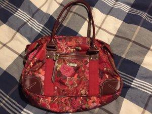 Oilily Handtasche rot geblümt