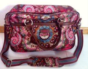 Oilily Laptoptasche, florales Muster braun/pink/blau, WIE NEU!!!