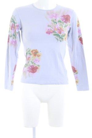Oilily Longsleeve blassblau Blumenmuster Casual-Look