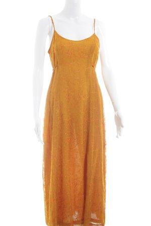 Oilily Maxikleid orange florales Muster Romantik-Look