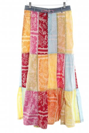 Oilily Maxi Skirt abstract pattern casual look