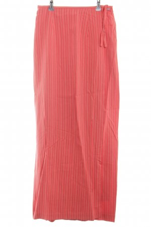 Oilily Maxi Skirt red-natural white striped pattern casual look