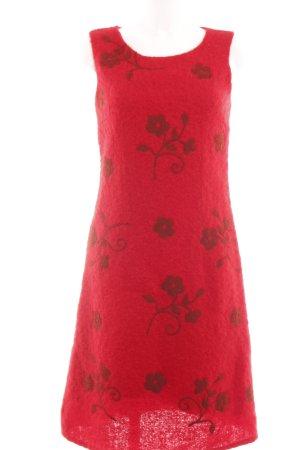 Oilily Midikleid rot-schwarz Blumenmuster Casual-Look