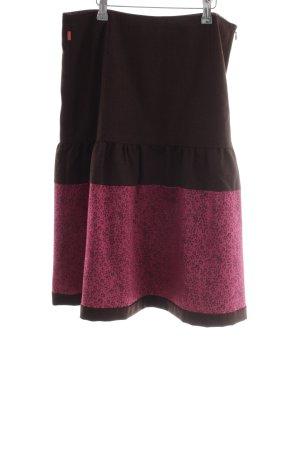 Oilily Midirock schwarzbraun-violett extravaganter Stil