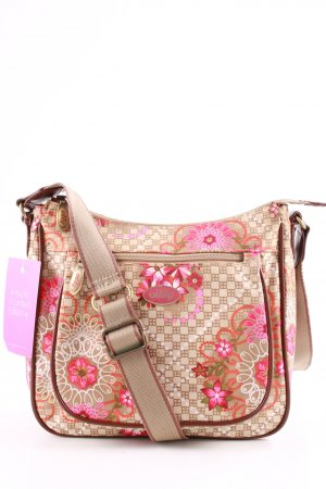 Oilily Minitasche creme-pink Blumenmuster Casual-Look