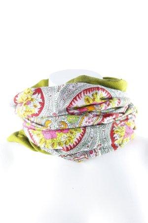 Oilily Sommerschal grün Blumenmuster Casual-Look