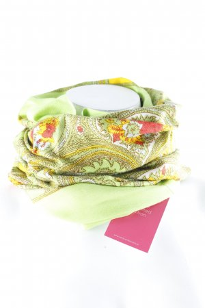 Oilily Sommerschal wiesengrün Blumenmuster Casual-Look