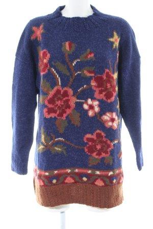Oilily Strickpullover Blumenmuster Casual-Look