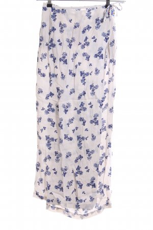 Oilily Wraparound Skirt natural white-blue flower pattern casual look