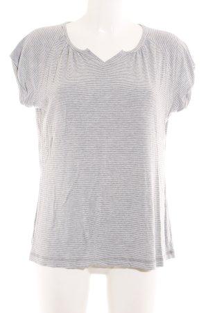 Okha T-shirt gris clair-gris anthracite motif rayé style décontracté