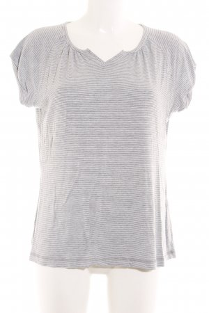 Okha T-Shirt light grey-anthracite striped pattern casual look