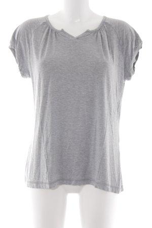 Okha T-Shirt hellgrau meliert Casual-Look