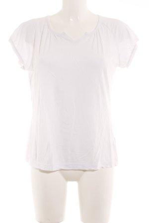 Okha T-Shirt weiß schlichter Stil
