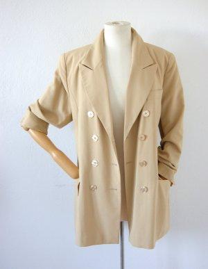 Oktavia vintage Trenchcoat oversized Blazer doppelreihig mit Schurwolle, Blogger