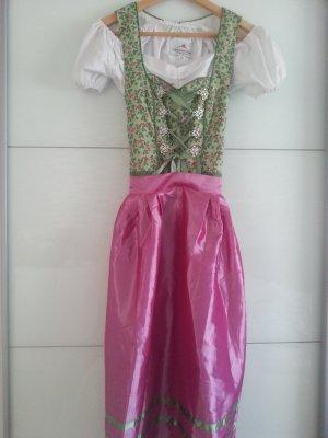 Dirndl rosa-verde chiaro