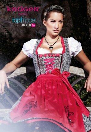 Oktoberfest wiesn Dirndl Pink Beauty von Krüger, Gr. 36