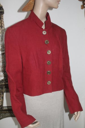 Mothwurf Traditional Jacket carmine-bordeaux linen