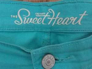 Old Navy Jeans stretch turquoise coton