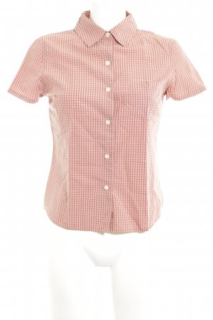 Old Navy Short Sleeve Shirt nude-brown check pattern business style