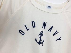 Old Navy Pullover Sweatshirt weiß Creme weich Pulli