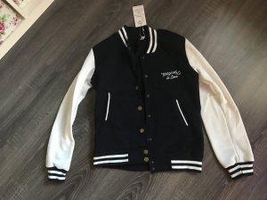 Old School Jacke blau weiß