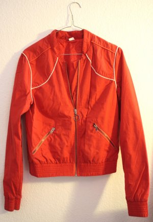 H&M Bomber Jacket red-white