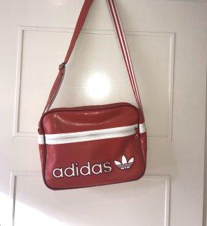 Adidas Originals Crossbody bag dark red-white imitation leather