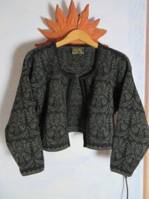 Giacca in maglia nero-antracite Lana
