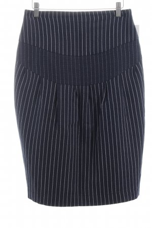 Olga Nordheimer High Waist Skirt dark blue-white striped pattern casual look