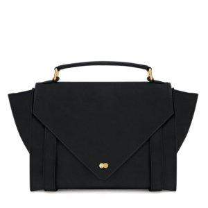 OLGA Satchel Bag Nubuk Leder Schwarz Project OONA Handtasche Tasche