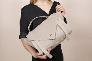 OLGA Satchel Bag Nubuk Leder Taupe Beige Project OONA Handtasche Tasche