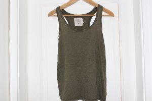 Oliv grünes Top von H&M, Größe S
