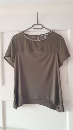H&M T-Shirt olive green
