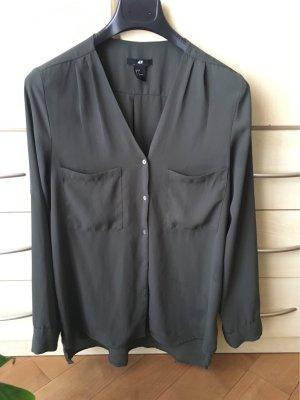 Olive / khaki Bluse H&M