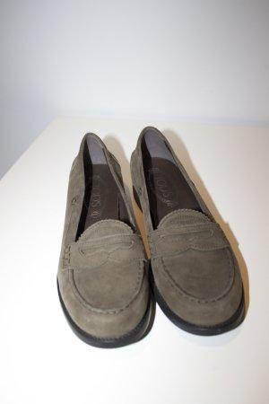 olivefarbene Loafers von Tods