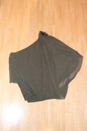 Olivegrünes One-Shoulder-Top von Zara in Größe M