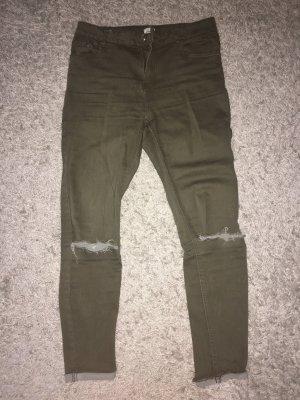 Pimkie Hoge taille jeans olijfgroen