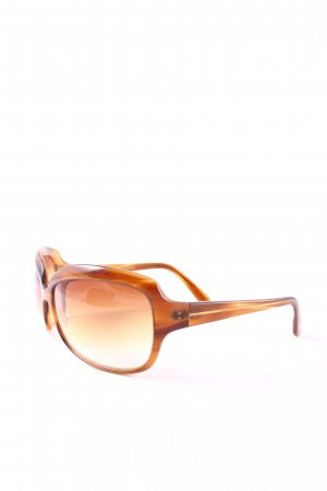 Oliver Peoples Angular Shaped Sunglasses light brown elegant