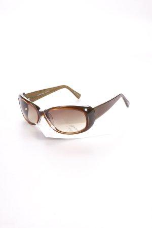 Oliver Peoples ovale Sonnenbrille braun Holz-Optik