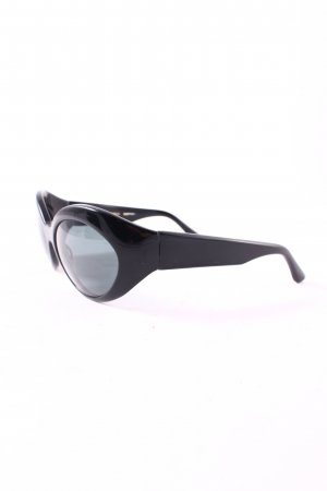Oliver Peoples ovale Sonnenbrille schwarz Retro-Look