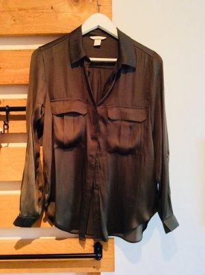 Olivfarbene Bluse H&M