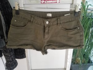 Olivfarbene Hotpants