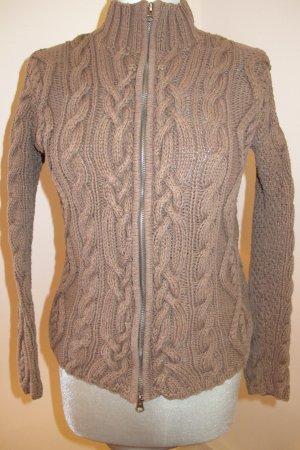 Giacca in maglia grigio-verde-marrone-grigio Cotone